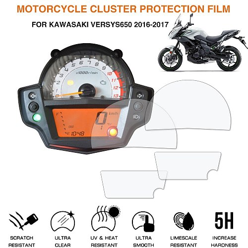 Motorcycle Cluster Scratch Protection Film Screen Protector For Kawasaki Versys650 2016-2017