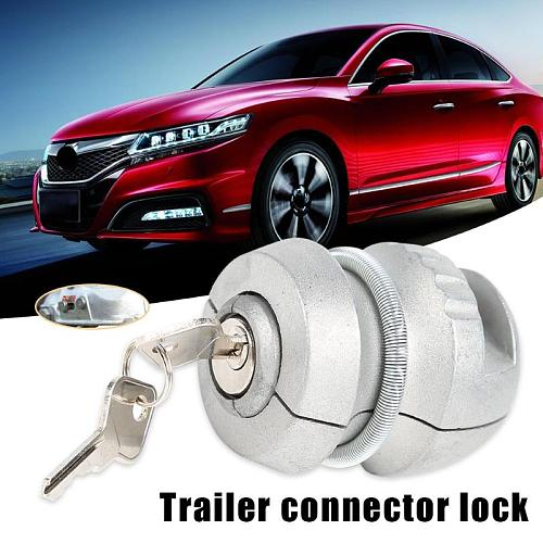Anti-Theft Trailer Parts Ball Lock Excellent Zinc Alloy Process Hitch Lock for Coupling Tow Caravan Silver