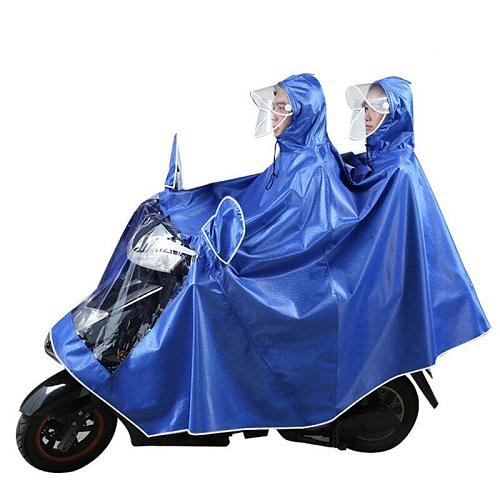 Outdoor Bicycle Motorcycle Rider Raincoat Double People Poncho Thickening Fashion Poncho 5XL Rainwear