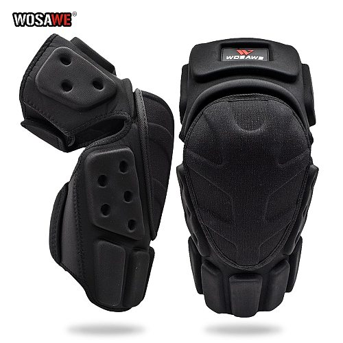 WOSAWE Motorcycle Knee Protector Guards Braces Support Protection Motocross Knee Pads Motorbike Riding Protective Gear