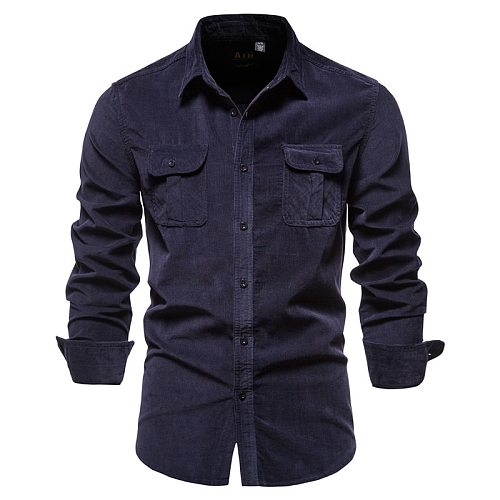 2020 Spring and Autumn High Quality Casual Stand Collar Workwear Men's Jacket Cotton Corduroy White Warm Jacket