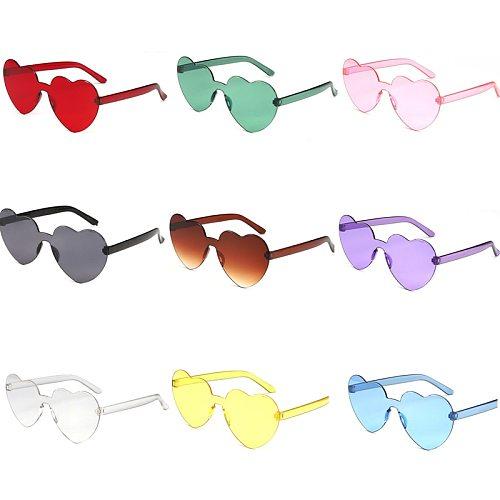 1 Pcs Trendy Heart Sunglasses Women Cat Eye Sun Glasses Retro Love Heart Shaped Glasses Ladies Shopping Sunglass UV400