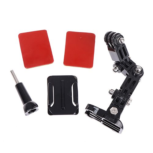 Hot Sale 1PC Motorcycle Helmet Mount Curved Adhesive Arm For Gopro Hero 8 7 6 5 4 3 For XiaoYi 4K Action Camera Accessories