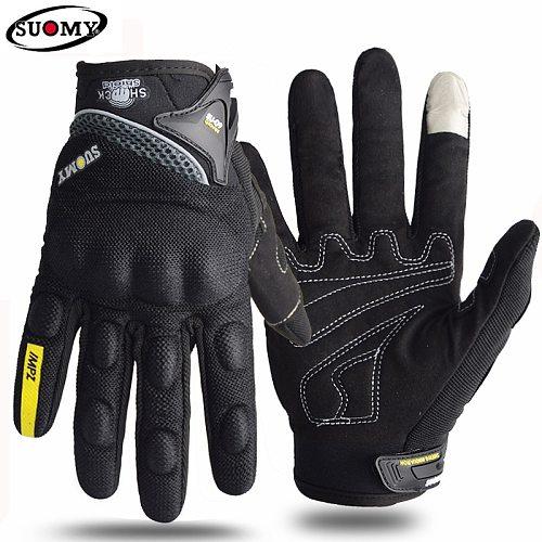 Suomy Motorcycle gloves Summer Breathable Racing Luva Motoqueiro Guantes Motocicleta Luvas de Cycling ATV Rider Protector gloves