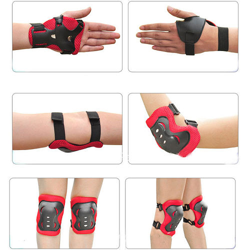 7 Pcs Skating Protective Gear Set Knee Wrist Guard Elbow pads Bicycle Skateboard Ice Skating Roller Knee Protector Guard For Kid