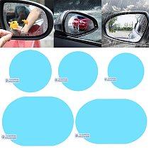 Car Rear View Mirror Rainproof Film Anti-Fog Clear Protective Sticker Anti-Scratch Waterproof Mirror Window Film for Car Mirrors