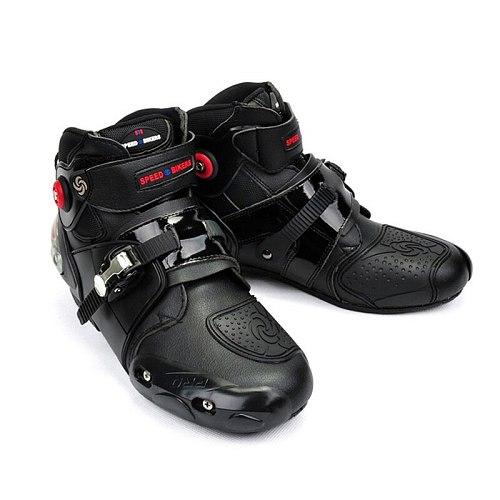 Unisex Motocross Boots Microfiber Racing Shoes Anticollision Anti-skid Motorcycle Boot Protective Motorbike Equipment All Season