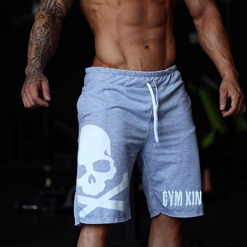 New Skull Running Shorts Men Jogger Quick Dry Fitness Bodybuilding Sweatpants Gym Sport Crossfit Shorts Men Training Short Pants