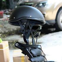 Motorcycle Half Helmet Anti-collision cap Matte Black Bright black Vintage Half Face Helmet Retro German Style chopper Cruiser