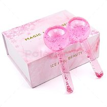 2pcs/box Large Beauty Ice Hockey Energy Beauty Crystal Ball Facial Cooling Ice Globes Water Wave Face and Eye massage Skin Care