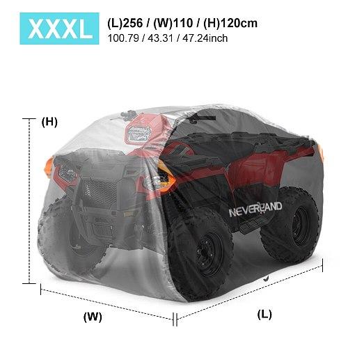 XXXL 256cm XL 210cm Beach ATV QUAD Motor Bike 190T Water  Rain Proof Dust Anti-UV Cover Case For Polaris Motorcycle Covers D20