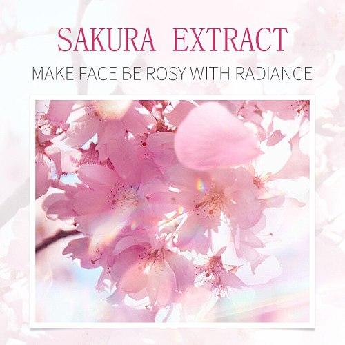 Sakura Skin Care Set Moisturizing Evening Skin Tone Face Serum Anti-aging Wrinkle Facial Essence Nourishing Lock Water Cream