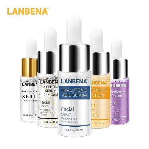 Face Serum Series 24K Gold Vitamin C Whitening Hyaluronic Moisturizing Essence Skin Care Nourishing Firming Facial Serum 15ml
