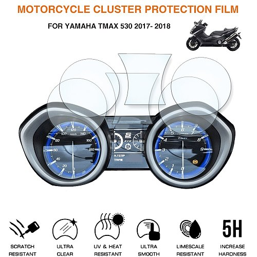 Motorcycle Cluster Scratch Protection Film Screen Protector For Yamaha Tmax 530 DX SX 2017 -2018