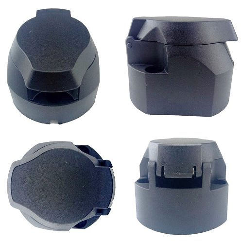 13-Pin Trailer Socket  Black Frosted Materials 13-Pole Trailer Socket 12V Tow Bar Towing Socket