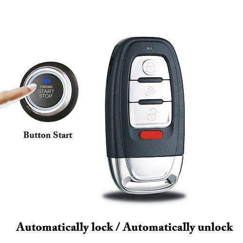 12V Motorcycle Scooter Anti-Theft Alarm System PKE Smart Induction Button Engine Start LoKeyless Driving Auto Lock/Unlock