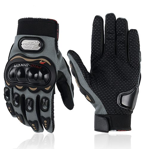 Motorcycle Gloves Outdoor Luvas Guantes Moto Motocross Breathable Full Finger Racing Motorbike Bicycle Glove Protective Gears