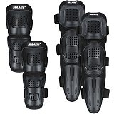 4pcs/Set Motorcycle Protective Kneepad Flexible Durable Elbows Knees Protector Pads Guard Motocross Bicycle Accessories