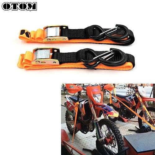OTOM Motorcycle Tie Pull Rescue Binding Belt Fixed Strap Tension Rope Buckle Universal For HONDA KTM YAMAHA SUZUKI KAWASAKI ATV