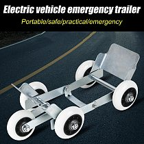 Electric Vehicle Emergency Trailer Tire Pusher Tire Skates Motorcycle Scooter Tire Dolly With 5 Wheels Flat Tire Emergency Tool