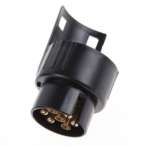 12V Plastic Trailer Adapter Connector 7 Pin To 13 Pin Caravan Electrical Converter Adaptor Towbar Towing Socket
