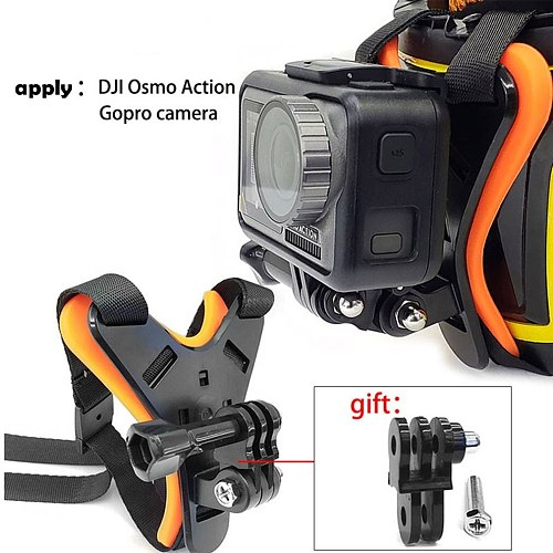 Motorcycle POV Full Face Helmet Chin Stand Mount Holder For GoPro Hero 6/5/4 For Xiaomi Yi Action Camera Accessories go pro