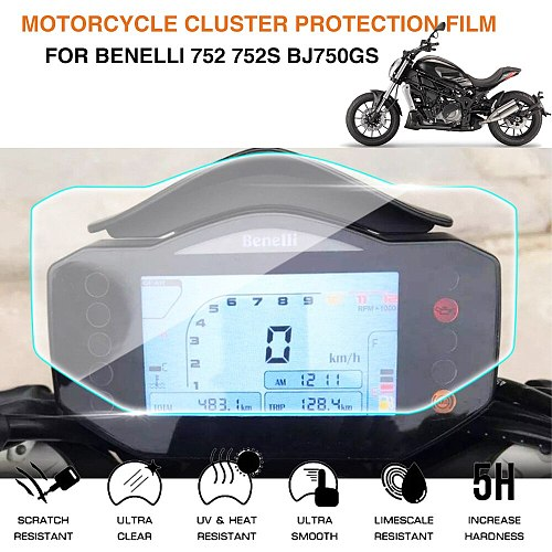 Motorcycle Cluster Scratch Protection Film Screen Protector For Benelli 752 752s bj750gs