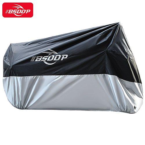 BSDDP Universal Motorcycle Cover Dustproof Waterproof Bike Oxford Cloth Rain Snow UV Protector Covers Size M to 4XL All Season