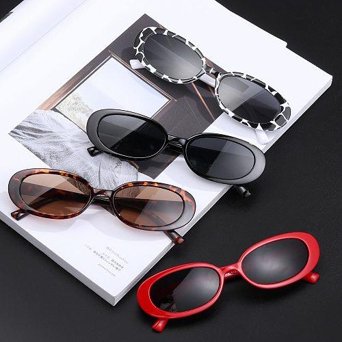 1 PC Retro Sunglasses for Women Small Oval Frame Sun Glasses Fashion Shades Polarized Eyewear UV400 Sunglasses