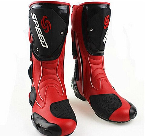 New fashion leather motorcycle boots Pro Biker SPEED Racing Boots Motocross Boots drop resistance