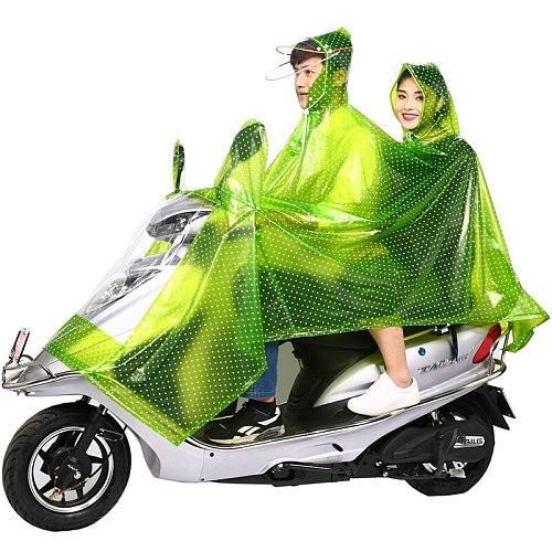 Waterproof Raincoat Jacket Transparent Motorcycle Overall Plastic Raincoat Clear Stylish Regenjacke Rider Rainsuit JJ60YY