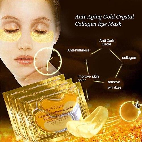 15Pairs Beauty Korean Cosmetics 24K Gold Crystal Collagen Eye Mask Sheet Mask Dark Circles Acne Eye Patches For Eye Skin Care