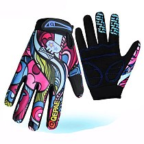 Fashion Bicycle Gloves BMX MTB Motorcycle Gloves Man Women Kids Breathable Outdoor Sports Cycling Racing Riding Gloves  Colorful