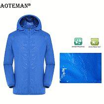 Men Quick-Dry Jackets Hooded Skin Coats Ultra-Light Men's Summer Solid Windproof UV Outwears Windbreaker Male Jacket 4XL LM002