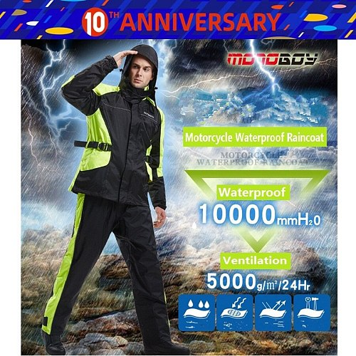 Free shipping 1set Motorcycle Rider Raincoat Motocross Racing Clothes Rain Pants suit Raincoat Jacket And Raincoat Pants