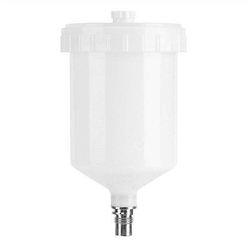 Plastic Hvlp Paint Cup Pot for Sata Sprayer Cup Connector Jet Paint Sprayer 600Ml white