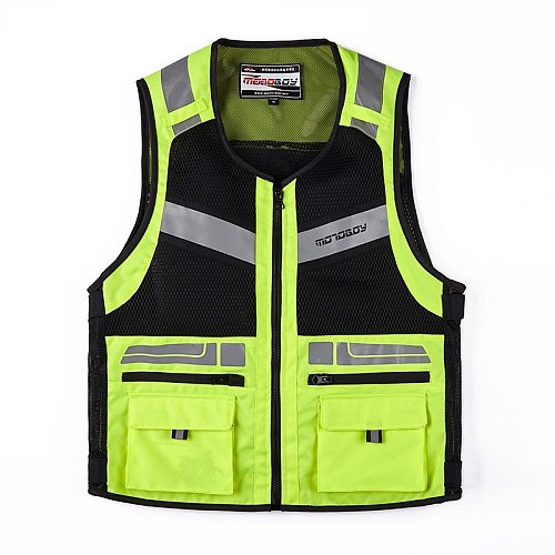 Cycling Reflective Safety Vest High Visibility Motorcycle Riding Safety Jackets Vest Running Cycling Vest with Helmet Net