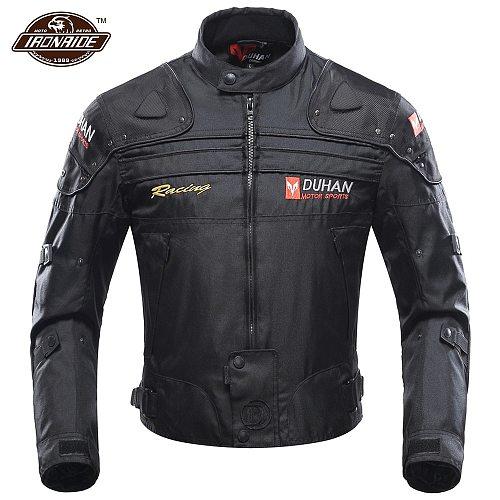 DUHAN Winter Motorcycle Jacket Men Chaqueta Moto Motocross Jacket Windproof Motorcycle Racing Jacket With Remove Linner
