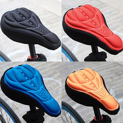Bicycle Saddle 3D Soft Bike Seat Cover Comfortable Foam Seat Cushion Cycling Saddle for Bicycle Bike Accessories