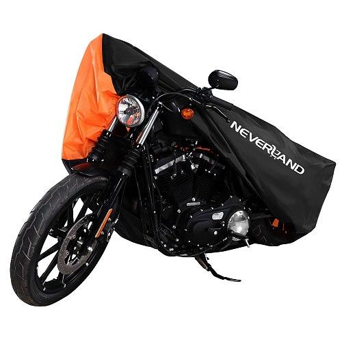 190T Orange Dust UV Rain Water Proof Motorcycle Cover Protector Motors Dirt Bike Scooter Covers M L XL XXL XXXL D35