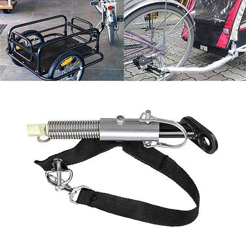 Trailer Hitch Adapter Connector Coupling for Stroller Moped Bike Bicycle Connector Coupling