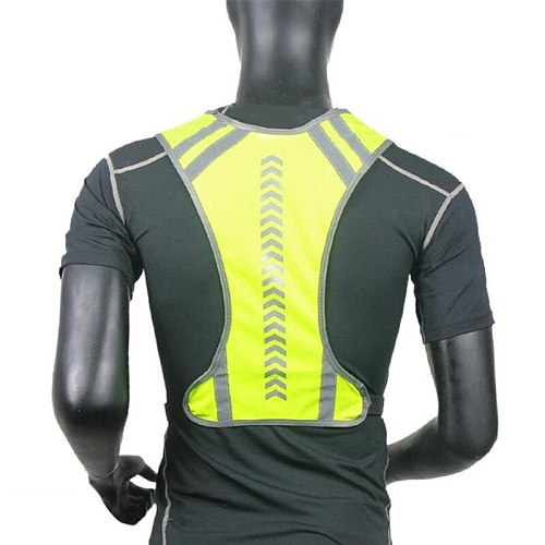 Drop Reflective Outdoor Cycling Safety Protective Vest Motocycle Harness Night Running Vest Men Women Running Vests