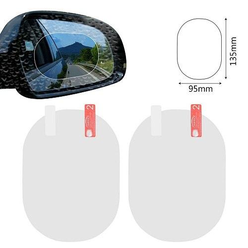 Universal Car Rearview Mirror Protective Film Waterproof Rainproof Rear View Mirror Window Clear Protective Film