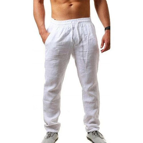 Autumn and Summer Fashion Comfortable Beach Men's Casual Pants Elastic Waist Trousers 8 Colors