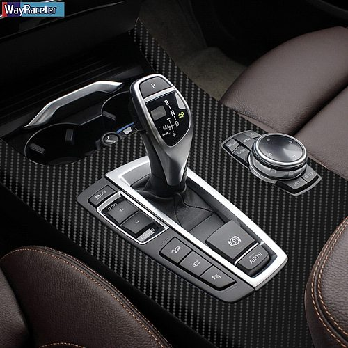 Anti Scratch Car Interior Trim Protective Film Decoration 5D Carbon Fiber Vinyl Sticker For BMW X3 F25 X4 F26 Accessories