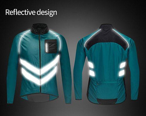 Reflective Bike Jacket Windproof Cycling Windbreaker Bicycle Wind Coat Rain Jacket Men Women High Visibility Cycle MTB Jacket