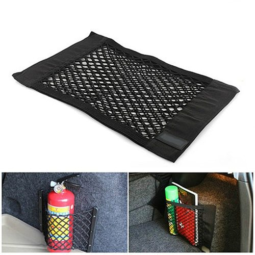 Car Interior Nets Car Trunk Seat Back Elastic Mesh Net Storage Mesh Net Bag Luggage Holder Pocket Trunk Organizer Seat Back Bag