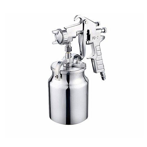 Spray Gun Air Regulator High Pressure Air Spray Gun With 1000ml Aluminum Cup And 2mm Nozzle Size Paint Painting Tools