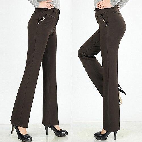 Women Trousers straight pants high waist casual female pantalon ladies pantolones female trousers plus size womens pants