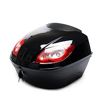 E-Bike Tail  Box Electric Scooter Trunk Motorcycle Top Hard Case Helmet Storage Case Luggage Case With Reflective Lamp